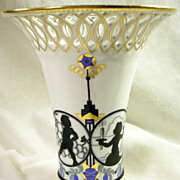Reticulated Art Deco Porcelain Vase – c. 1910-1940