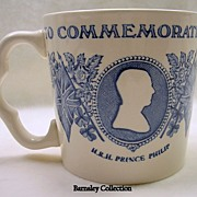 SALE Vintage Mason's Ironstone Queen's Silver Jubilee to Prince Philip Cup