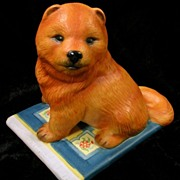 Franklin Mint 1987 Porcelain Chow Dog