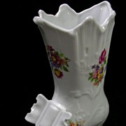 Signed German Democratic Republic Vintage Old Fashion Boot Vase