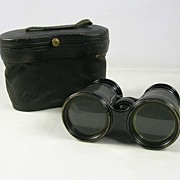 Eduardo Augusto Pereira's Victorian Cased Leather and Brass Binoculars – c. 1900s