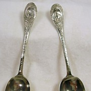 SALE Empress Silver / Mappin & Webb Victorian Silver Plated Teaspoons – c.1905