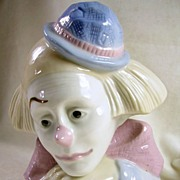 MEICO Handcrafted Porcelain Clown Figure from Republic of China