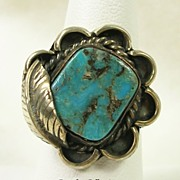 SALE PENDING Sterling Silver Turquoise Ring