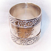 Stunning VICTORIAN AESTHETIC  Sterling or Coin Silver Napkin Ring!