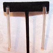 Vintage Italian STERLING SILVER Fringe Drop Earrings!