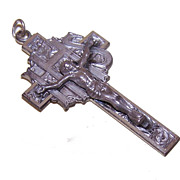Vintage STERLING SILVER Cross/Crucifix for Chain or Rosary!
