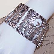 Fabulous & Heavy 900 SILVER Link Bracelet Made in Peru!