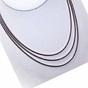 """Fluid 1960s TRIPLE LINK Sterling Silver """"Snake"""" Chain Necklace!"""