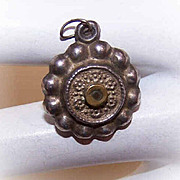 RARE C.1890 French Silver Religious Stanhope Charm/Pendant!