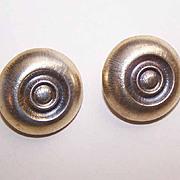 Vintage STERLING SILVER Vermeil Clip Back Earrings!