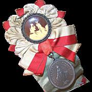 C.1920 Religious RIBBON PIN for St. Aloisia