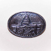 C.1900 STERLING SILVER Souvenir Pin/Brooch - The Capital, Washington, D.C.!