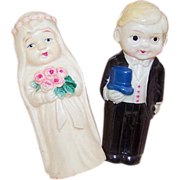 EARLY CELLULOID Bridal Couple Figurines - Made in Japan!
