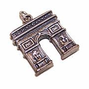 Vintage EUROPEAN 835 Silver Charm - Arc De Triomphe!