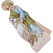VICTORIAN Die Cut - Child Jesus & Lamb Stand-Up Card with Easel!