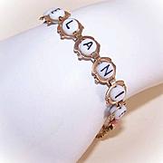 Vintage GOLD FILLED & Alphabet Glass Bead Bracelet for Melanie!