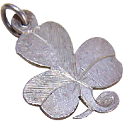 Vintage STERLING SILVER Charm - Irish Shamrock!