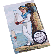 Adorable ANTIQUE VICTORIAN Trade Card for Clark's Mile-End Spool Cotton!