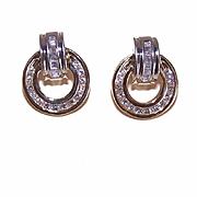 SALE SHOWSTOPPER Estate 14K Gold & 1CT TW Diamond Earrings!