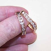 """SALE FABULOUS 14K Gold & 1.30CT TW Diamond 1"""" Hoop Earrings!"""