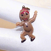 Vintage MADE IN JAPAN Cracker Jack Charm - Little Brown Man!
