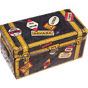 HTF Vintage Litho'ed Tin Travel Trunk by MARX!