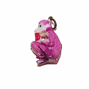 Vintage MADE IN JAPAN Cracker Jack Charm - Monkey!