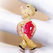 Vintage MADE IN JAPAN Cracker Jack Charm - Walking Popeye!