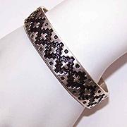 Vintage Southwestern Designed JR Silvermiths STERLING SILVER Cuff Bracelet!
