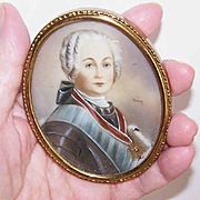 Vintage Signed French PORTRAIT MINIATURE - Royal Personage!