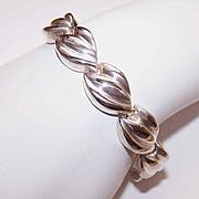 Vintage MILOR, ITALY Sterling Silver Link Bracelet!