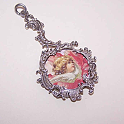 ANTIQUE EDWARDIAN French 800/900 Silver Locket Pendant!