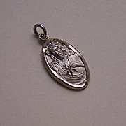 Small CHAPEL Sterling Silver Religious Medal/Charm - Sacred Heart of Jesus!