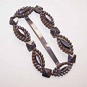 ANTIQUE VICTORIAN Cut Steel Belt or Sash Slide/Buckle!