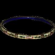 Vintage Tan Cloisonne Bangle Bracelet