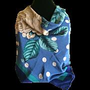 Vintage Perry Ellis Silk Scarf Floral Design