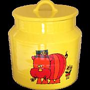 1960s Haeger Potteries Hippopotamus Cooking Jar