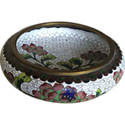 1950s Small Cloisonne Flower Bowl