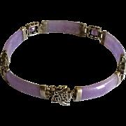 Vintage Lavender Jade  Bracelet