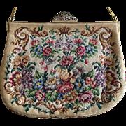 Vintage Petite Point Handbag Made in Austria