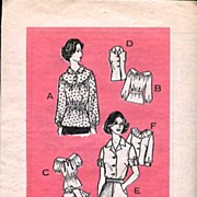 SOLD Let's Sew Mail-In Pattern~'Winning Tops' 1970s Blouses #9382~Size 10~Complete