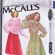 "SOLD McCall's #6267 Ultra Feminine CACHAREL Designer Blouse & Skirt~Size 12/Bust 34""~UNCU"