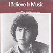 SOLD 1972 'I Believe In Music' MAC DAVIS Sheet Music Folio~Screen Gems-Columblia Music Publish