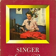 SOLD Comprehensive 1949 First Edition 'SINGER SEWING GUIDE'~Mary Brooks Picken, HC/DJ - Red Ta