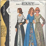 """SOLD McCall's #3231 Fab Wrap Around 'Pounds Thinner' Pantskirt & Blouse-Size 12/34""""-Compl"""