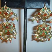 SOLD Vintage East Indian Dangle Earrings