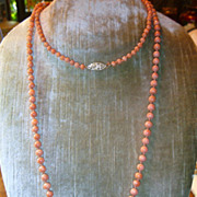 SOLD Antique Natural Coral Necklace