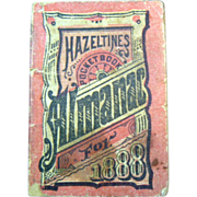 Antique 1888 Hazeltines Pocket Almanac