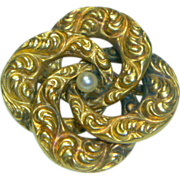 Vintage 14K Gold & Pearl Pin